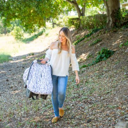 Lifestyle Leaves Carseat Cover Bebe Au Lait