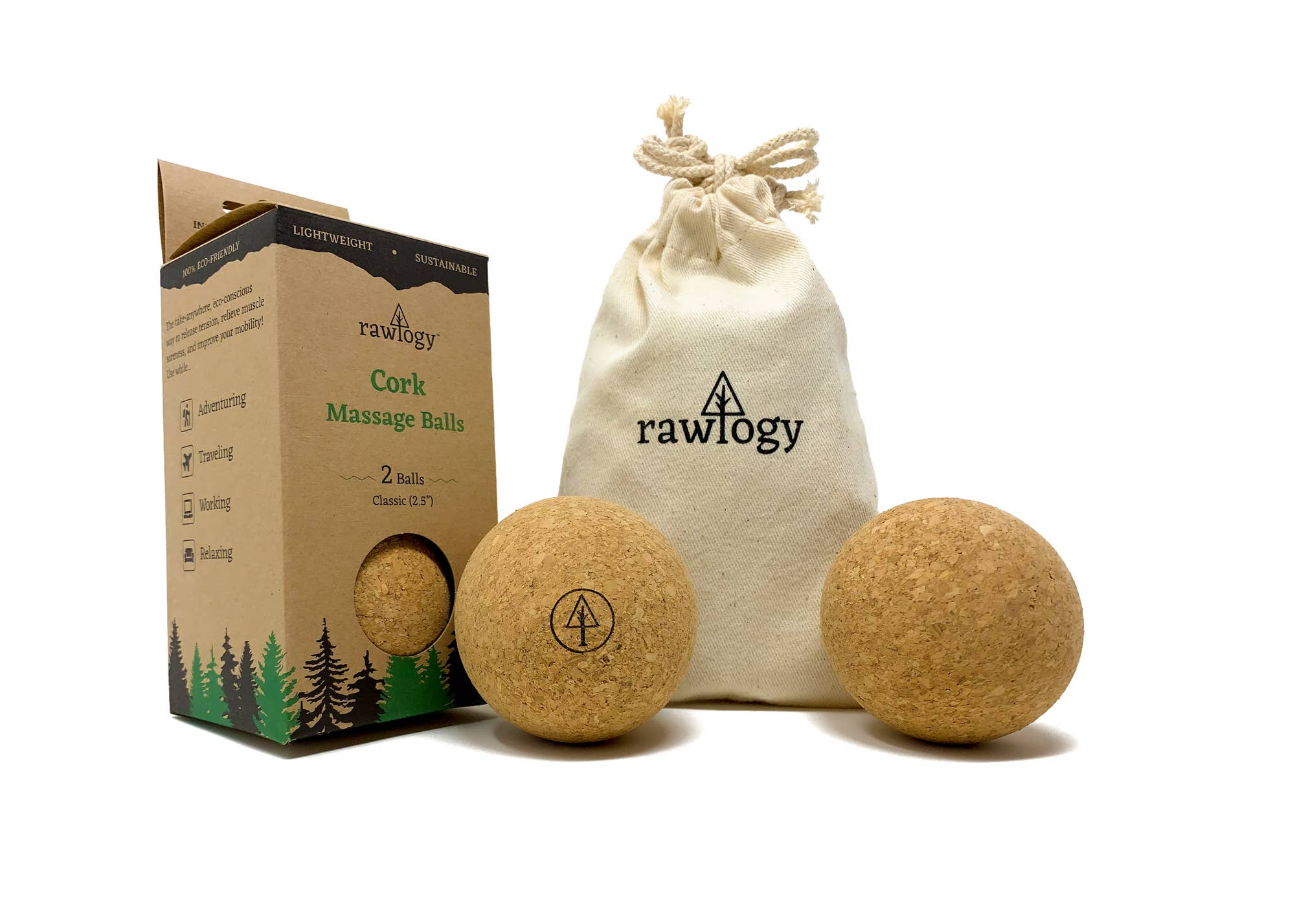 Rawlogy cork massage balls 1